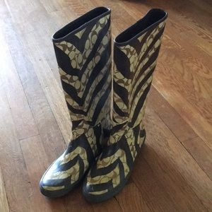 Coach rain boots, size 6B, excellent condition!